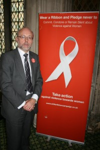 Alex supports charity's work to reduce violence against women
