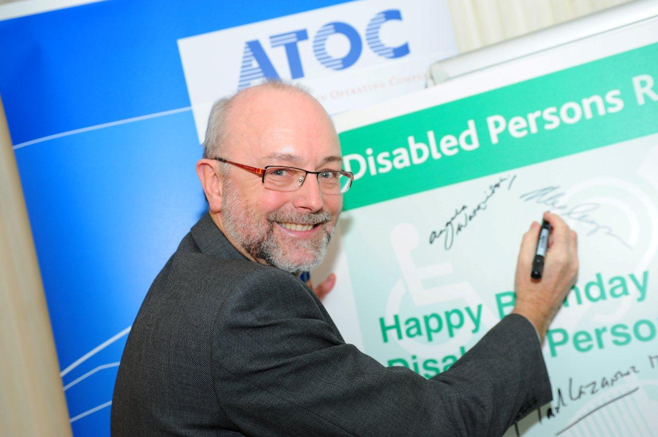 Alex MP says 'happy birthday' to Disabled Persons Railcard