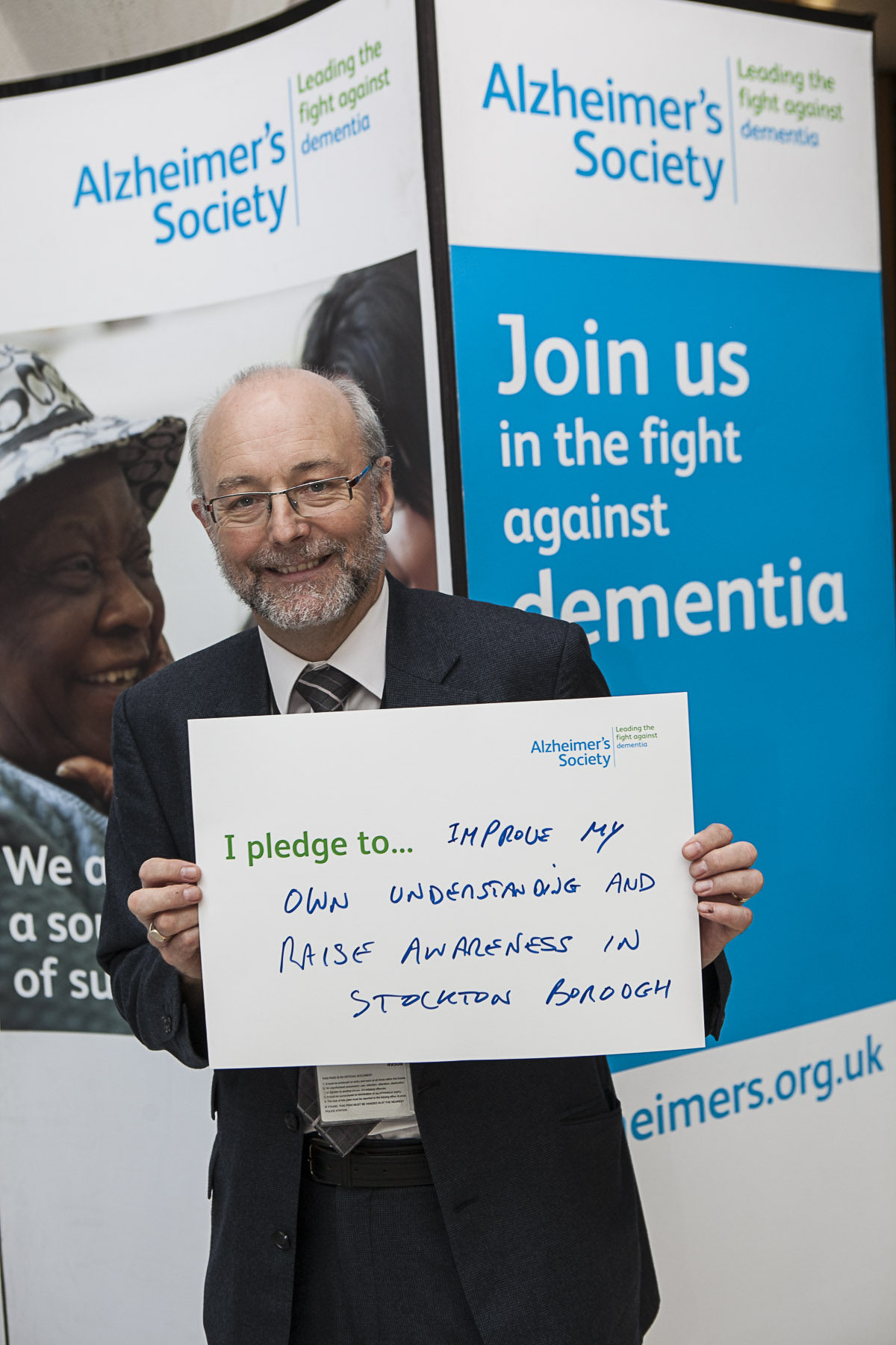 Alex makes pledge in the fight against dementia