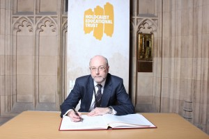 Alex signs Holocaust Memorial Day Book of Commitment and 'takes a step' against prejudice