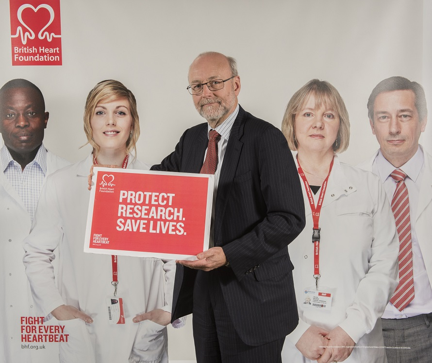 Alex supports heart research to save lives