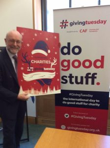 Alex joins charities and businesses to come together to support #givingtuesday