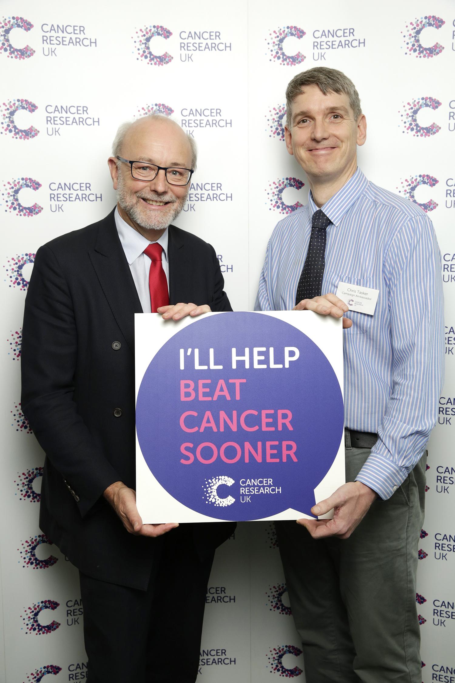 Alex pledges to help beat cancer sooner