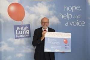 Alex shows his support for British Lung Foundation 'Breath Test' campaign