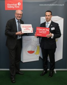 Alex supports Electrical Safety First campaign