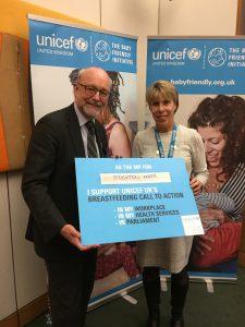 Alex backs Unicef's Breast Feeding campaign