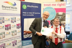 Alex attends event on health equality for people with learning disabilities and autism