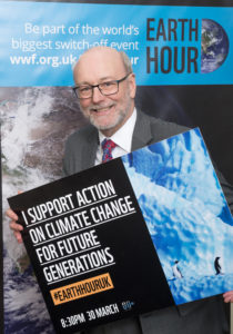 Alex supports WWF 'Earth Hour'