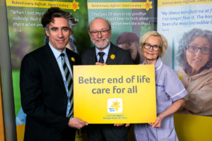 Alex helps launch Marie Curie's Great Daffodil Appeal