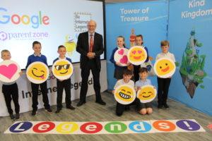 Alex joins Norton Primary Academy for Internet Legends campaign