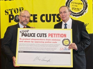 Usdaw Launch Campaign Against Police Cuts with Alex