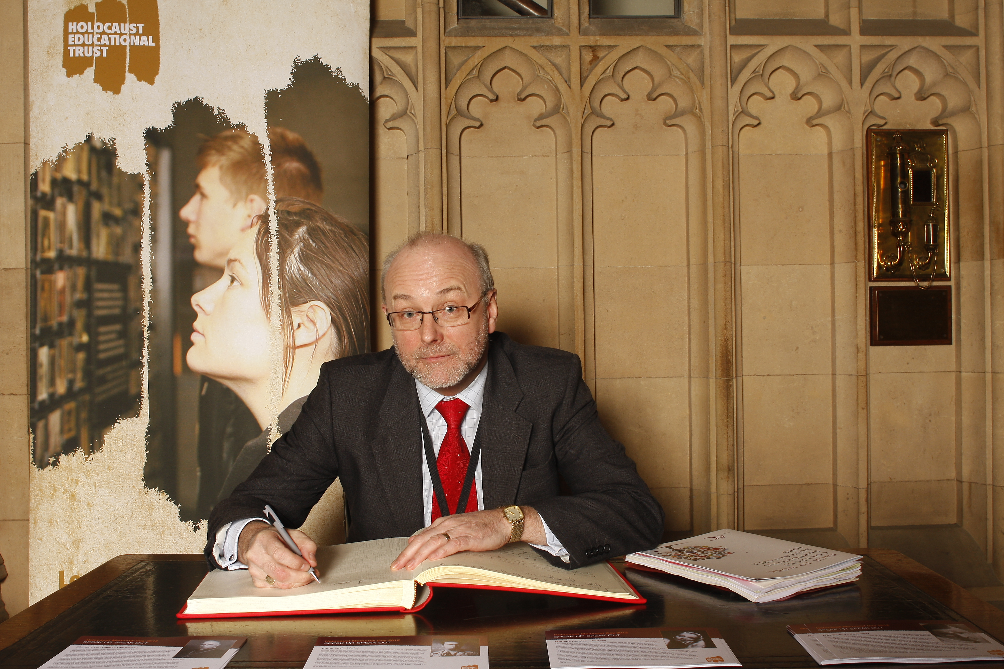 Alex 'Speaks Out' against prejudice by signing Holocaust Memorial Day Book of Commitment