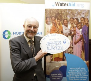 Alex MP shows his support for Water Works Campaign