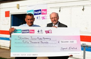 Sporting legacy boost for Stockton Junior Rugby Academy