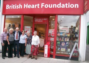 Alex shows support for work of BHF in Stockton North