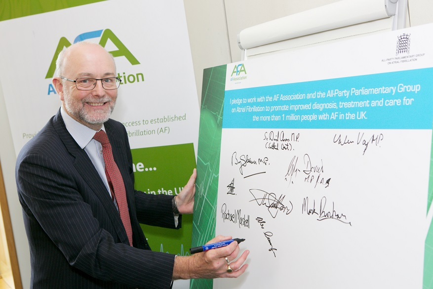 Alex pledges support for million Britons living with atrial fibrillation