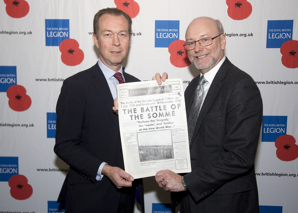 Alex demonstrates ongoing support for Royal British Legion