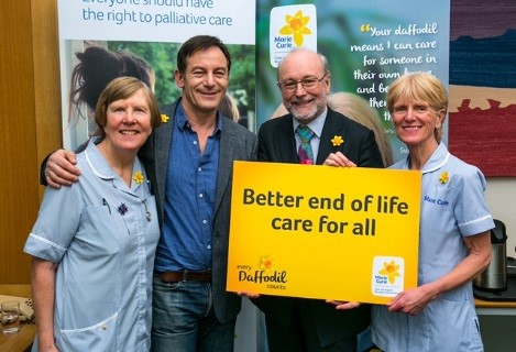 Alex Cunningham MP and Jason Isaacs 'Make Every Daffodil Count' for Marie Curie this March