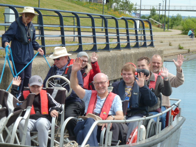 Alex joins Tees Wheelyboats for a spin on the Tees