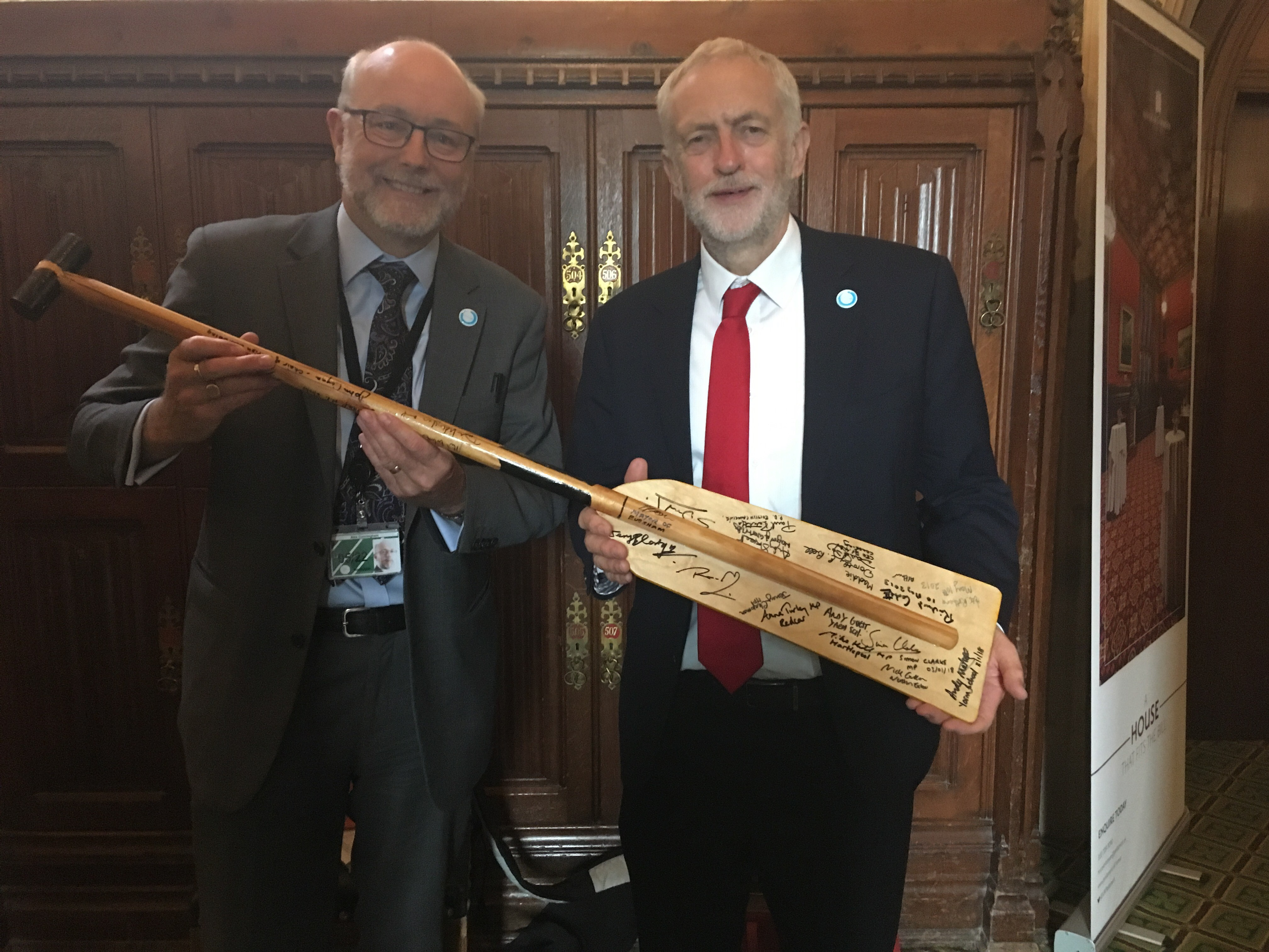 Alex and Jeremy support 'Paddle for Life' campaign