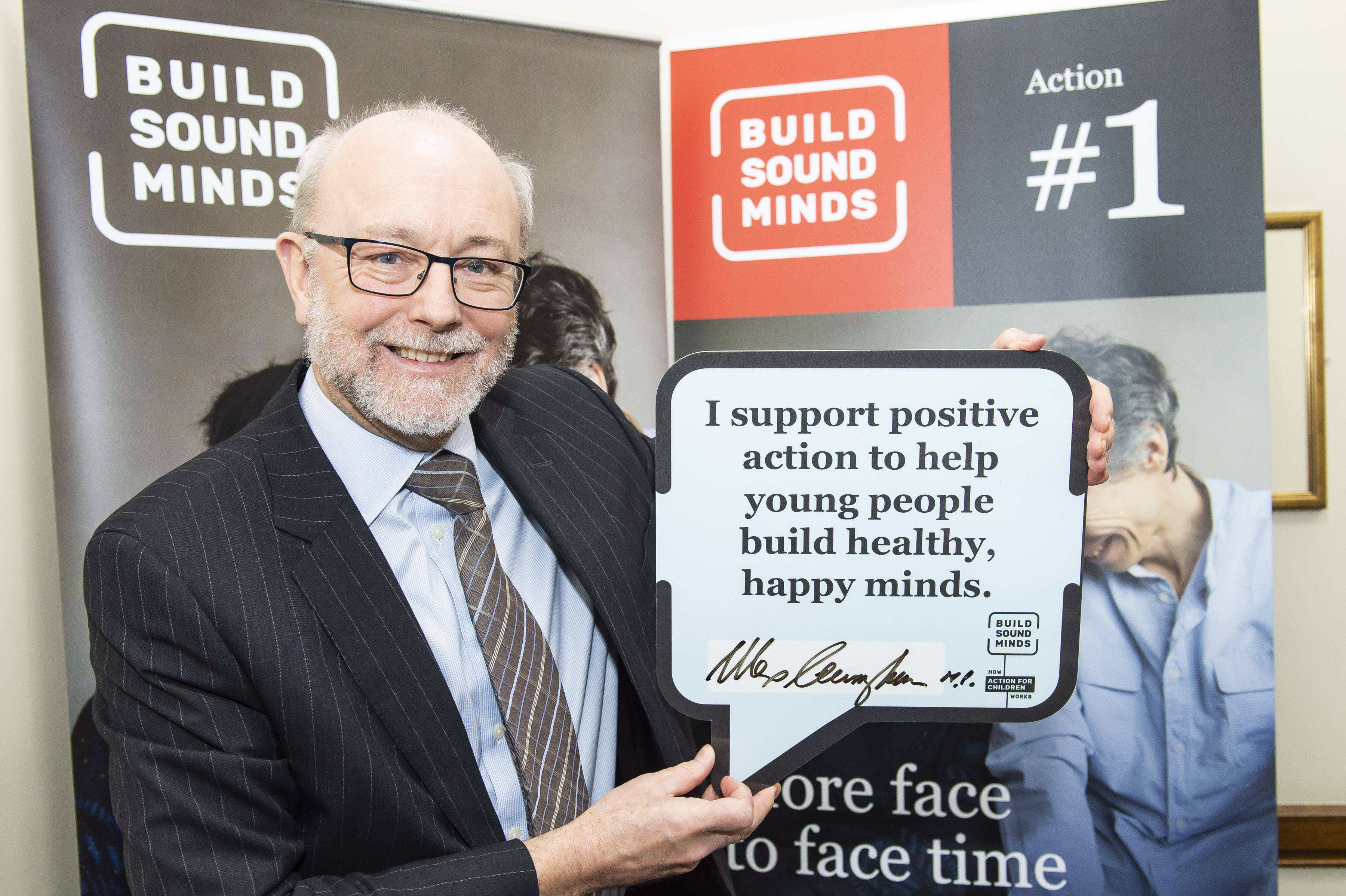 Alex supports campaign to help young people build good mental health